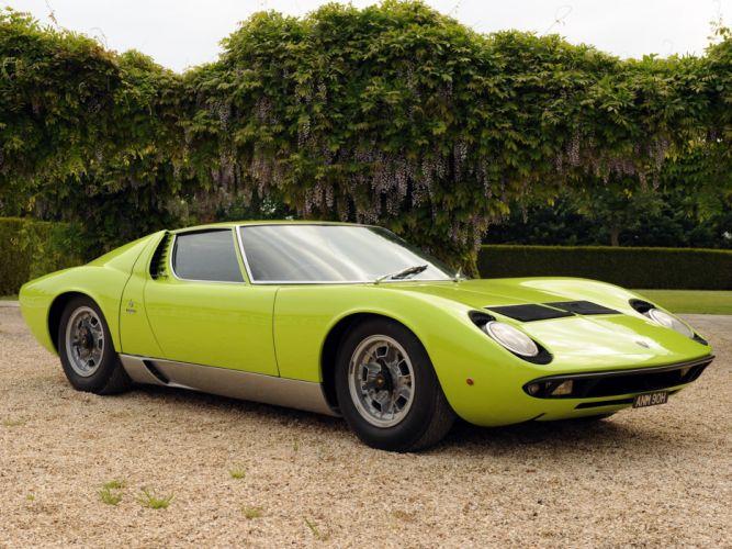 1970 Lamborghini Miura P400 S UK-spec supercar p400s classic f wallpaper