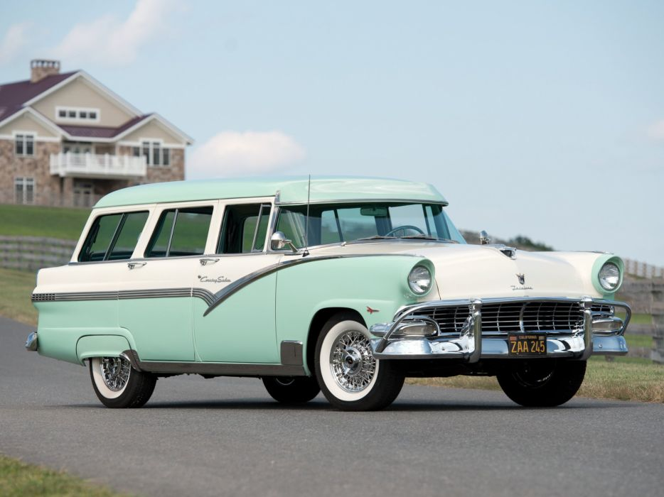 1956 Ford Country Sedan 8-passenger StationWagon (79B) retro wallpaper