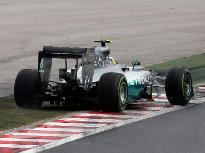 2014 Mercedes AMG F-1 W05 formula race racing wallpaper
