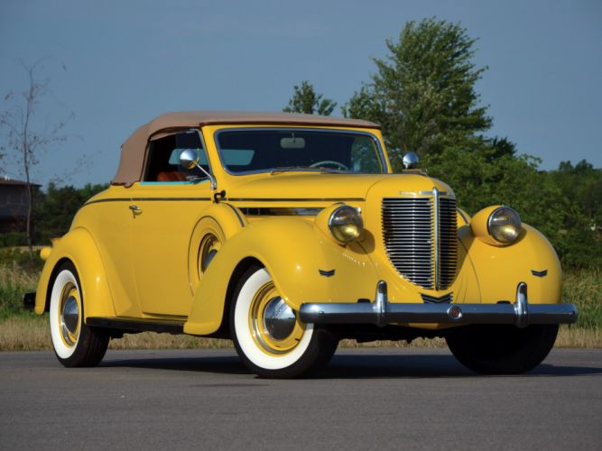 1938 Chrysler Imperial Convertible Coupe (C-19) luxury retro wallpaper