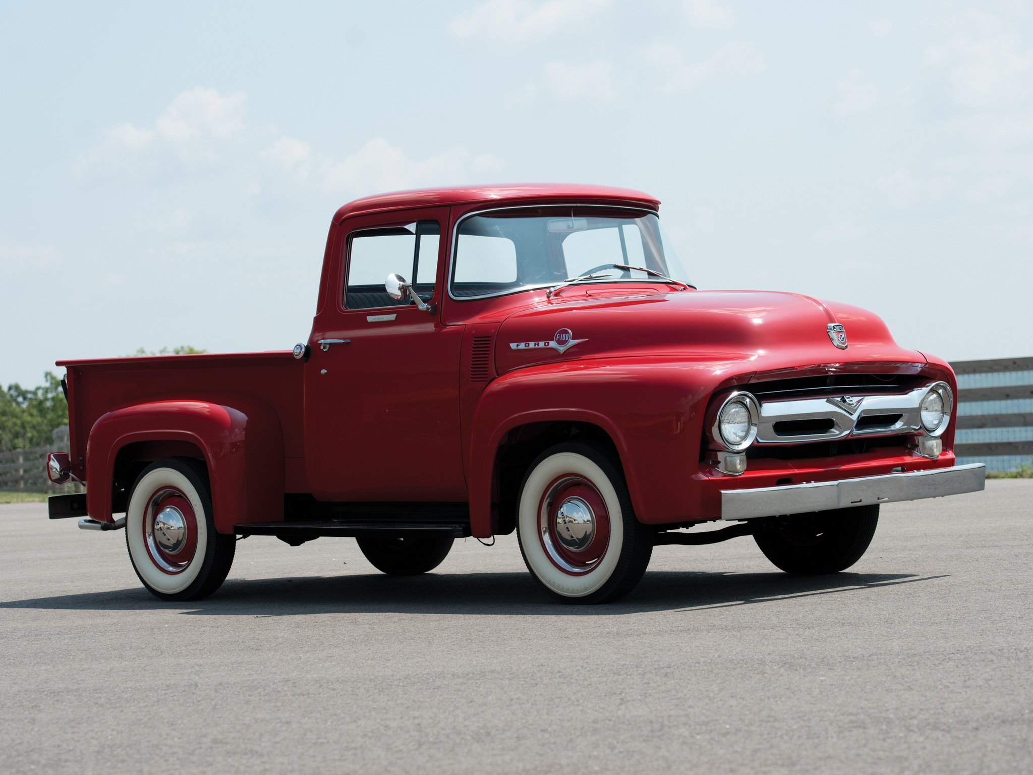 1956 ford f 100 custom cab pickup f100 retro wallpaper. Black Bedroom Furniture Sets. Home Design Ideas