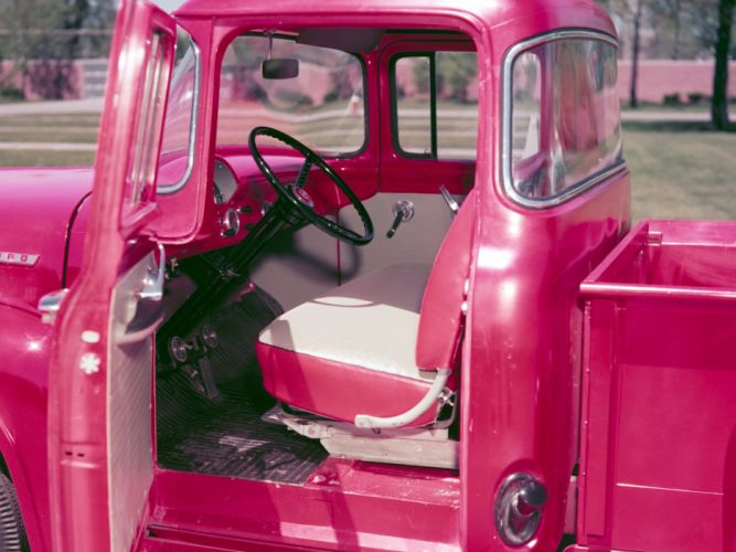 1956 Ford F-100 Custom Cab Pickup f100 retro wallpaper