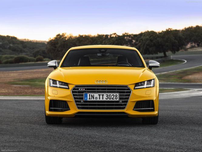 2015 Audi car Coupe Germany yellow Sport sportcar Supercar tts wallpaper wallpaper