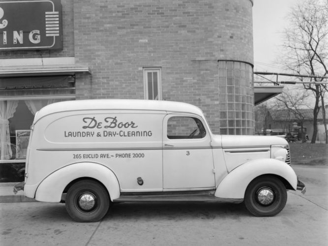 1940 Chevrolet Panel Truck (KC-3105) retro delivery d wallpaper