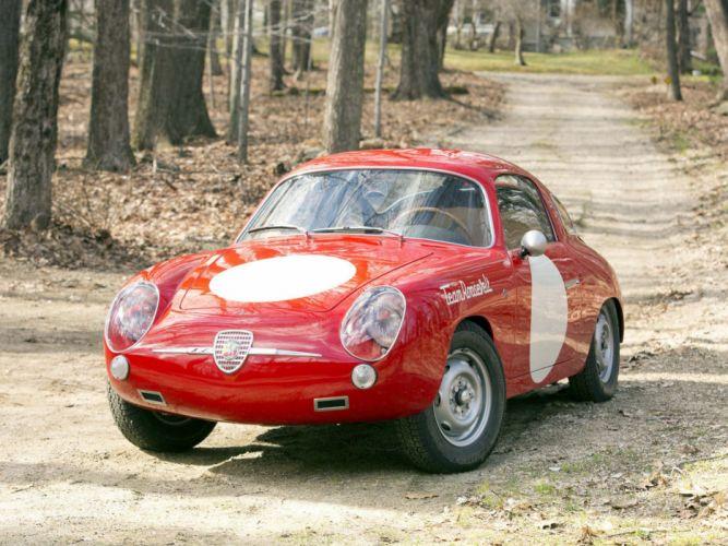 1958-60 Fiat Abarth 750 Record Monza race racing wallpaper