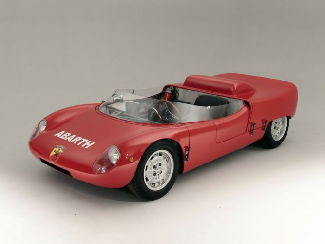1963 Fiat Abarth 1000 Spider Sport (SE04) race racing classic wallpaper
