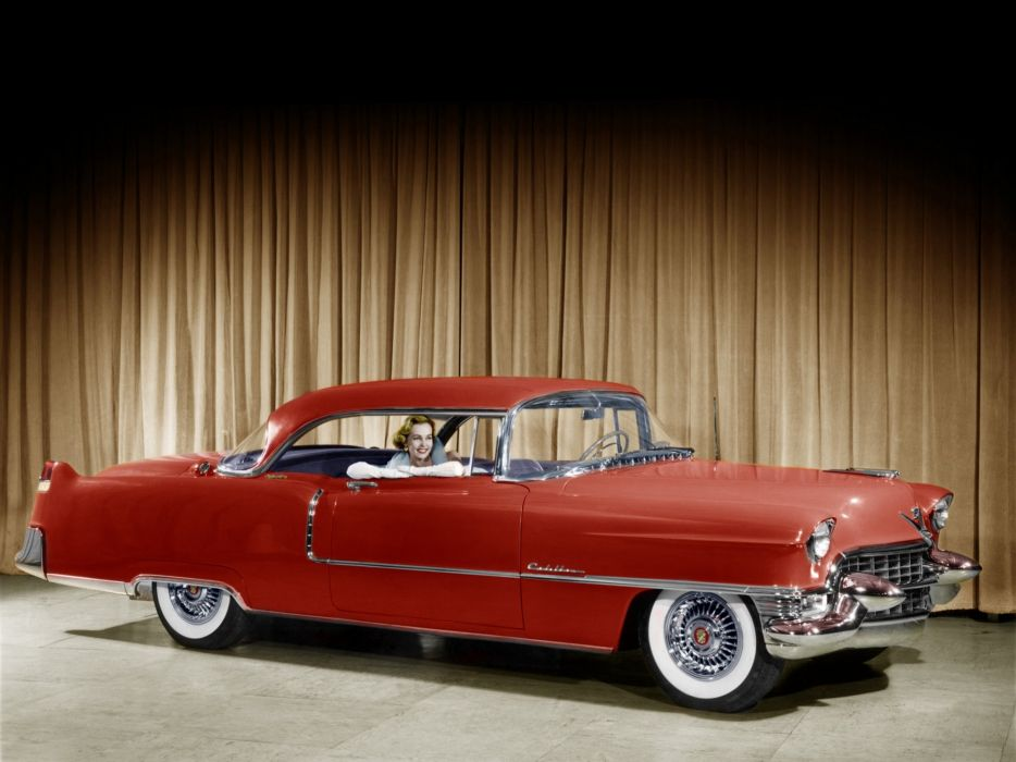 1955 Cadillac Sixty-Two Coupe-de-Ville (6237DX) retro luxury wallpaper