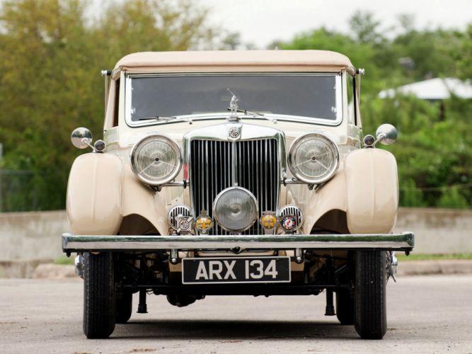 1936-39 M-G S-A Tickford Drophead Coupe luxury retro mgsa wallpaper