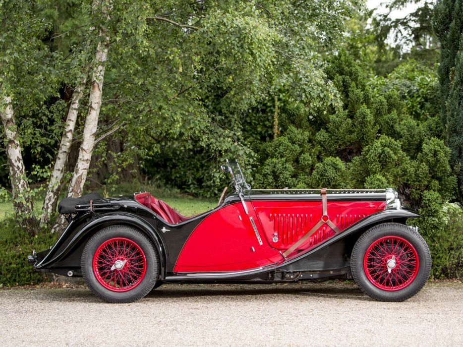 1934 MG NA Magnette Drophead Coupe Allingham m-g n-a mgna retro wallpaper