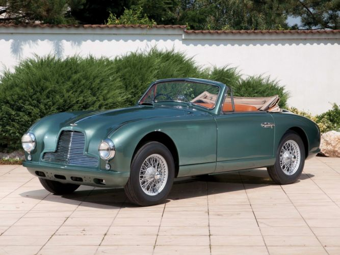 1951-53 Aston Martin DB2 Vantage Drophead Coupe retro wallpaper