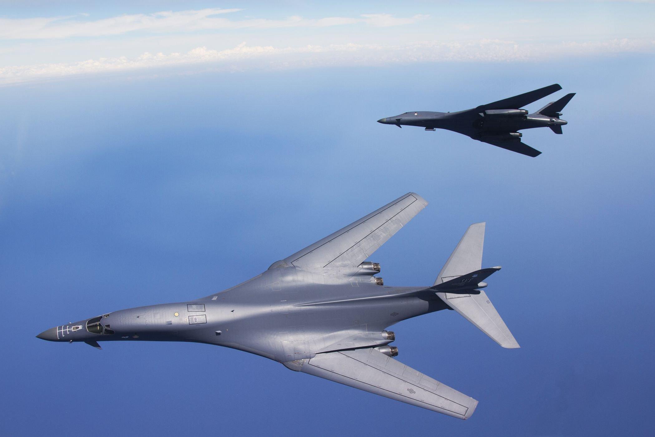 Rockwell B-1 Lancer bomber USA army aircrafts jet ... B1 Lancer Supersonic