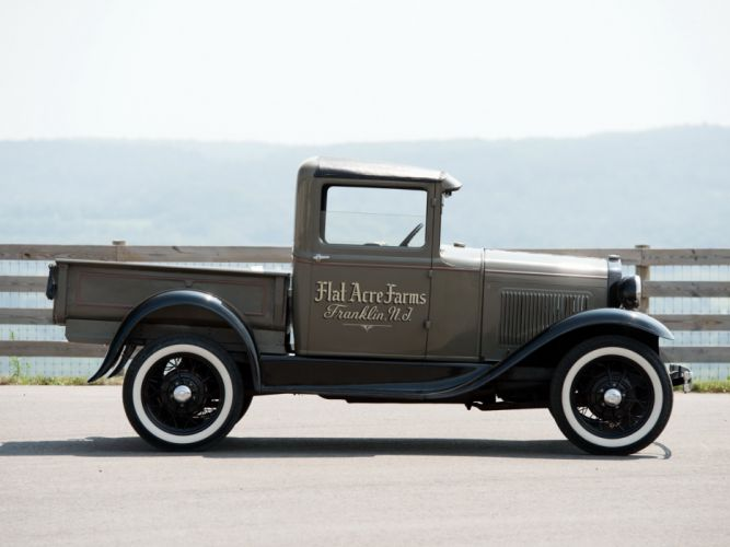 1930 Ford Model-A Pickup (82B-78B) retro wallpaper