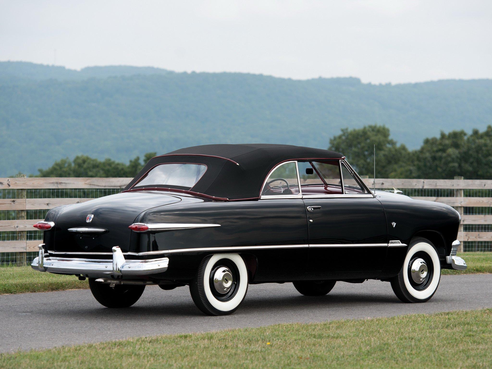 1951 Ford Custom Deluxe Convertible 1ba 76 Retro