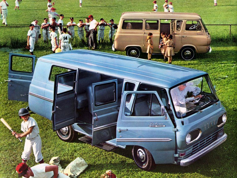 1966 Ford Falcon Deluxe Wagon van classic wallpaper