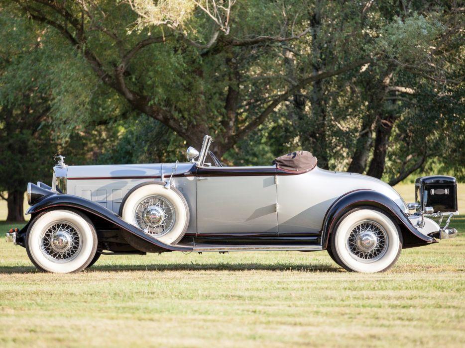 1932 Pierce Arrow Model-53 Convertible Coupe Roadster retro luxury wallpaper