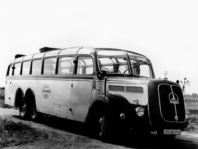 1938 Mercedes Benz O10000 Omnibus (N56) bus transport semi tractor wallpaper