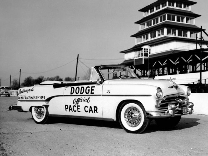 1954 Dodge Royal 500 Convertible Indy Pace Car (V53-3) race racing retro wallpaper