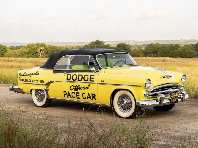 1954 Dodge Royal 500 Convertible Indy Pace Car (V53-3) race racing retro wallpaper