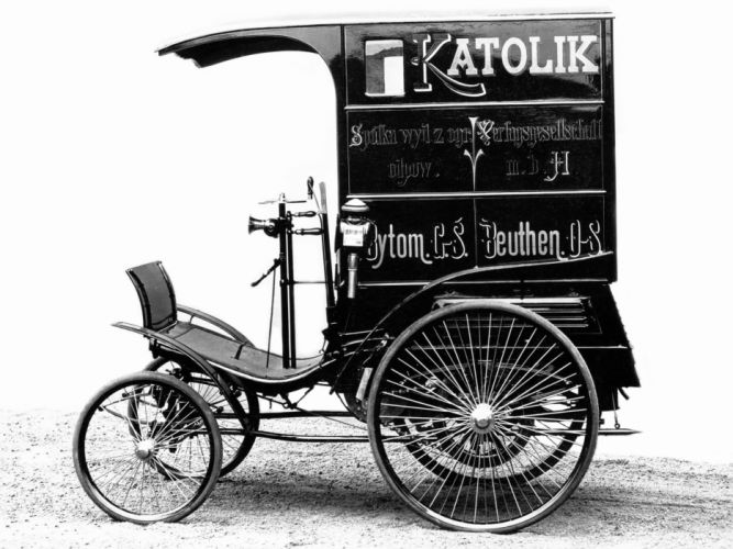 1896 Benz Velo Combinations Lieferwagen delivery transport retro wallpaper