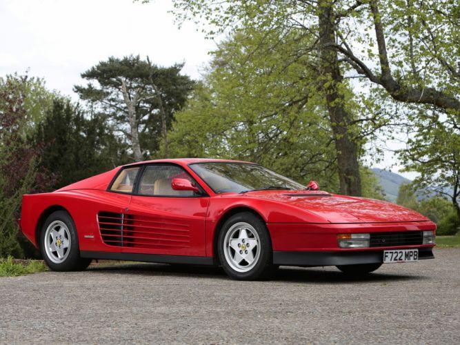1986-92 Ferrari Testarossa UK-spec supercar wallpaper