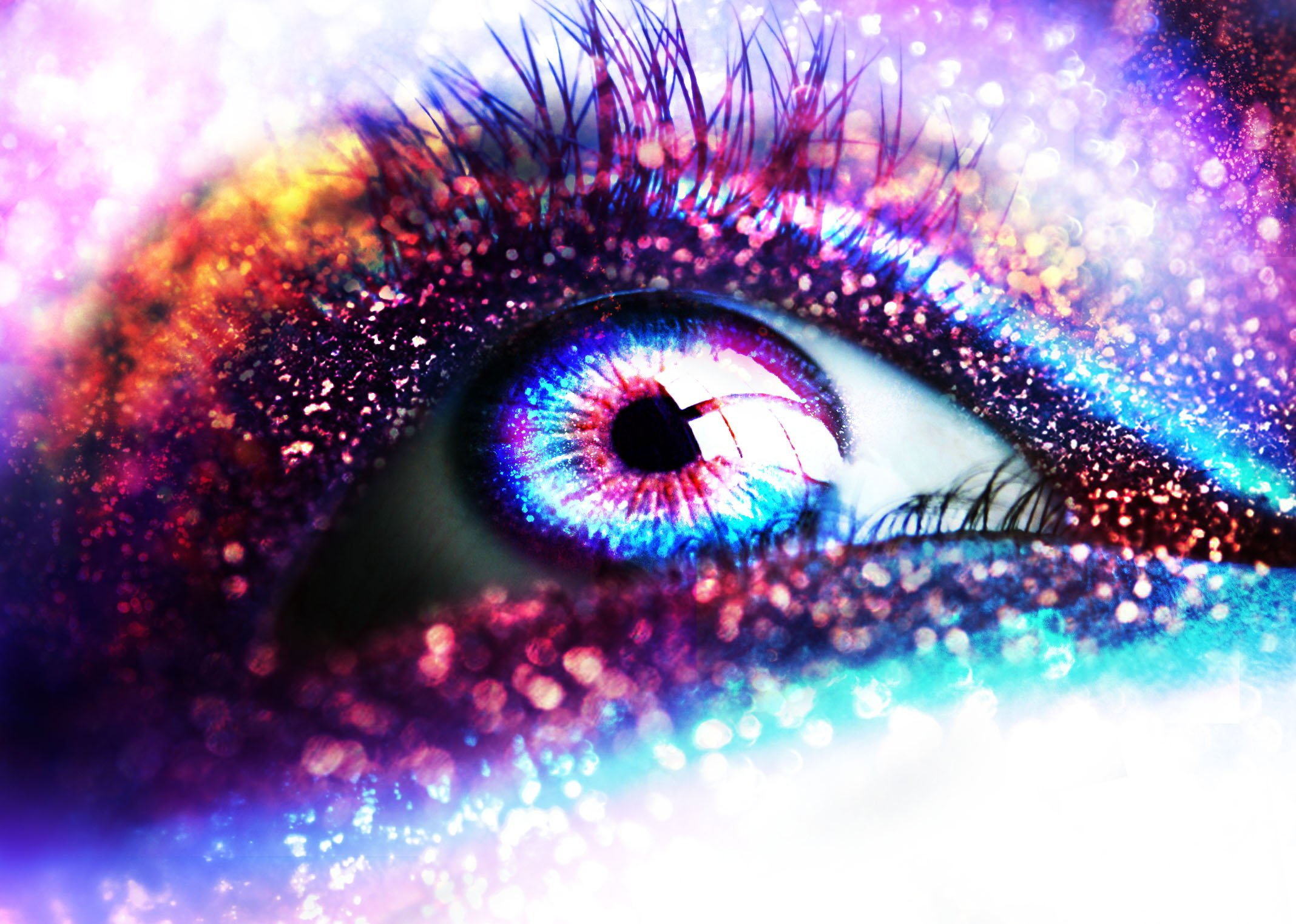 glitter sparkle psychedelic abstract abstraction bokeh eyes eye