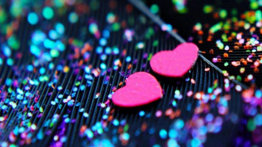 glitter sparkle psychedelic abstract abstraction bokeh heart mood wallpaper