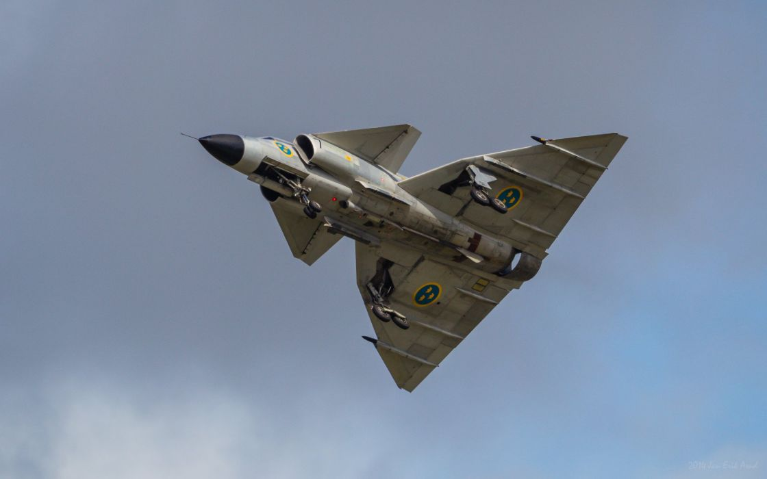 Air aircraft Fighter force ja 37 jet Military swedish viggen wallpaper