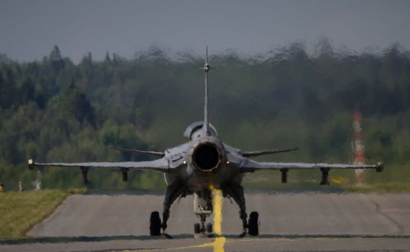 Air aircraft Fighter force jet Military swedish Saab JAS-39 Gripen wallpaper
