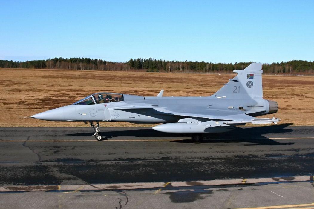 Air aircraft Fighter force jet Military swedish Saab JAS-39 Gripen wallpaper
