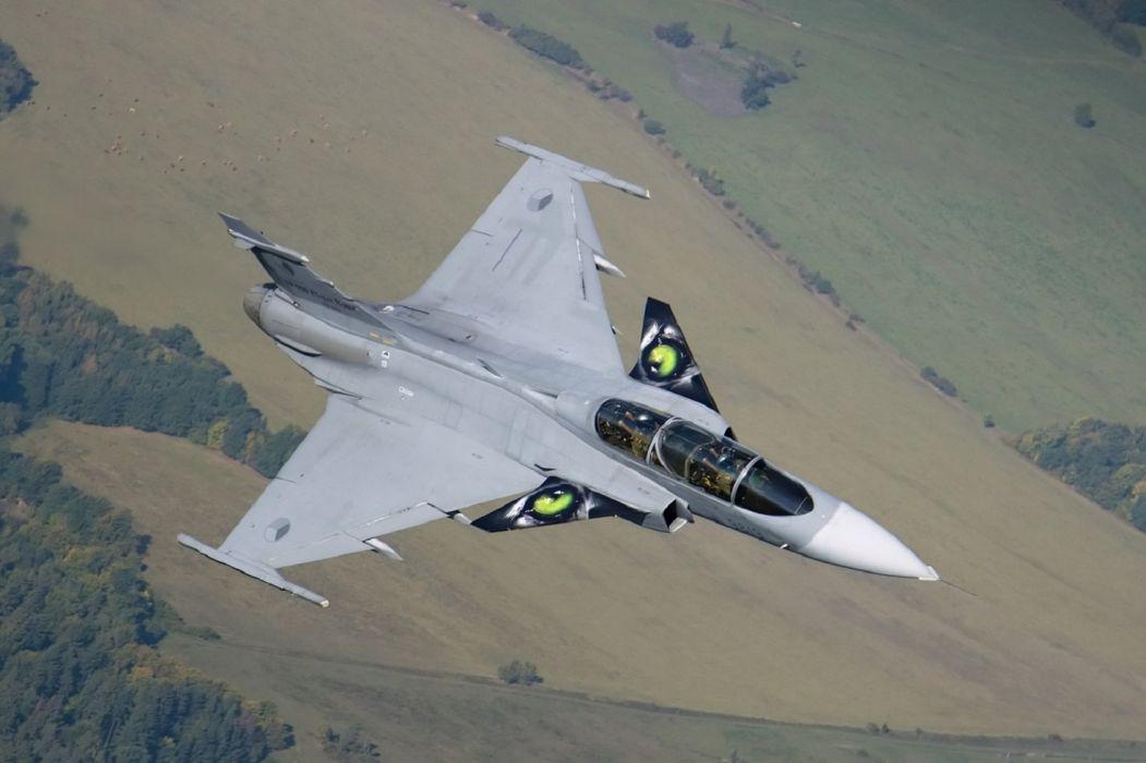 Air aircraft Fighter force gripen jas 39 jet Military saab swedish wallpaper
