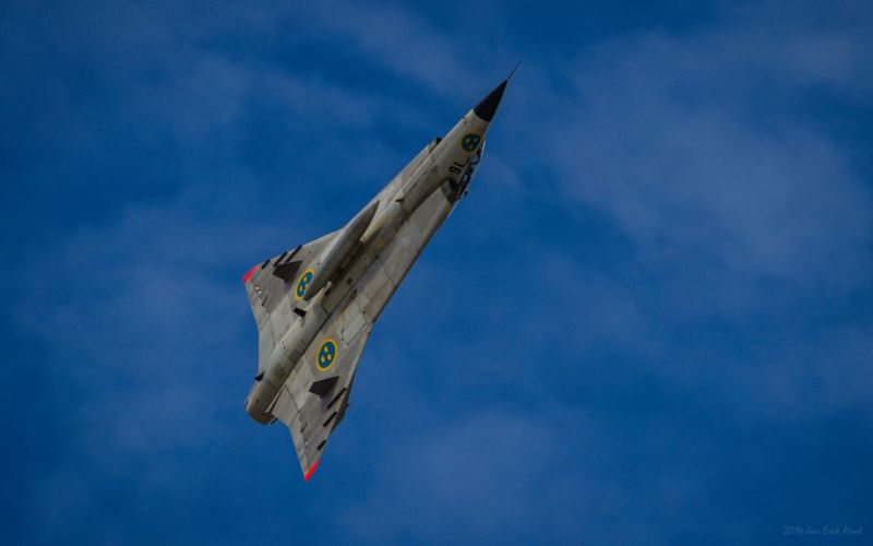 Air aircraft Fighter force jet Military saab swedish 35 DRAKEN wallpaper