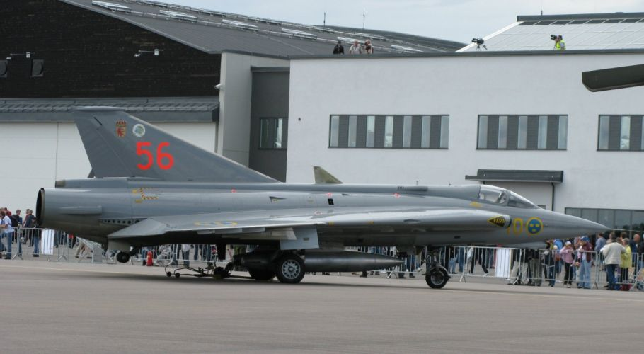 Air aircraft Fighter force jet Military saab swedish 35 DRAKEN wallpaper