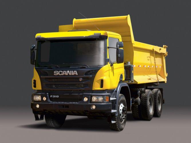2011 Scania P310 6x4 Tipper dumptruck dump semi tractor wallpaper