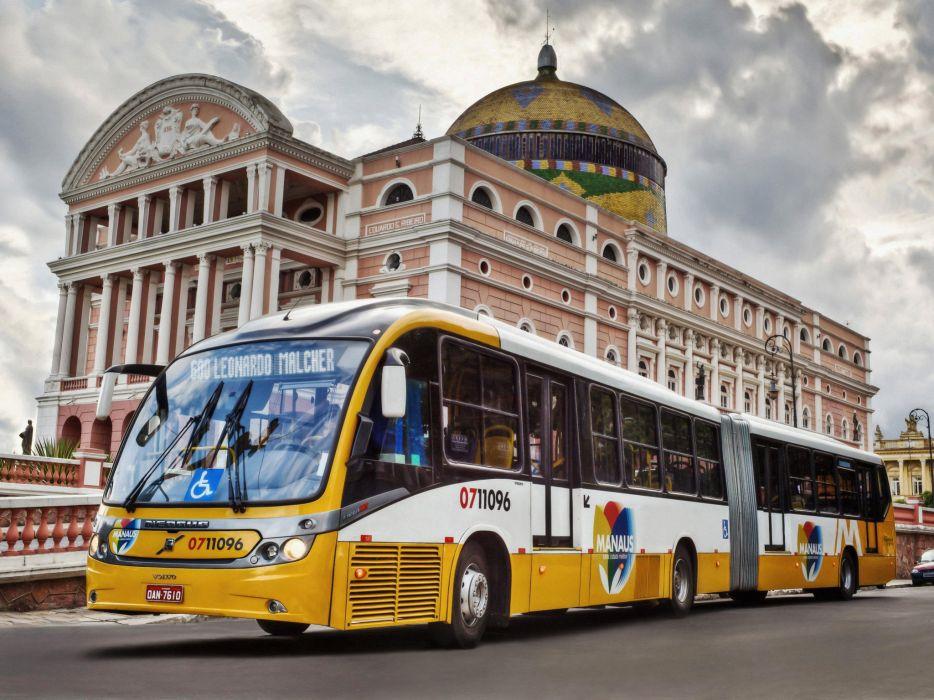 2011 Neobus Volvo B12M Mega BRT Articulated bus wallpaper