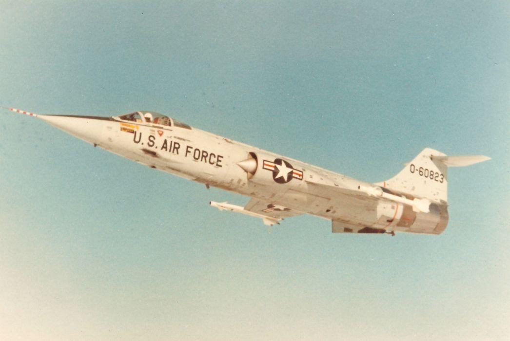 aircrafts army Fighter jets USA lockheed F-104 starfighter wallpaper