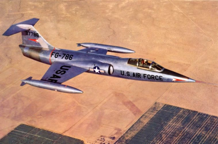 aircrafts army Fighter jets USA lockheed F-104 starfighter wallpaper