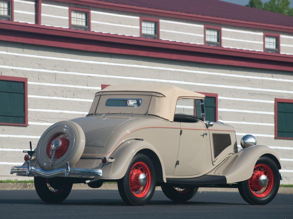 1934 Ford V8 Deluxe Roadster (40-710) retro v-8 wallpaper