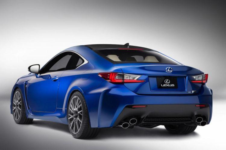 2015 Lexus RC-F coupe cars blue wallpaper