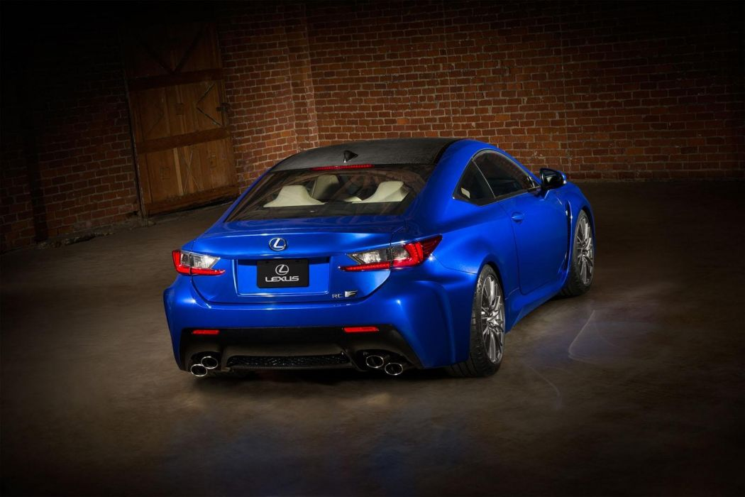 2015 Lexus RC-F coupe cars blue wallpaper