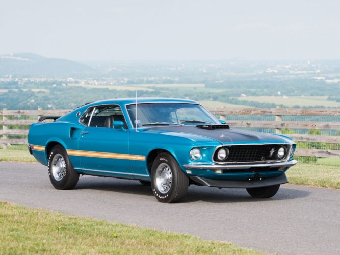 1969 Ford Mustang Mach-1 428 Cobra Jet (63C) muscle classic wallpaper
