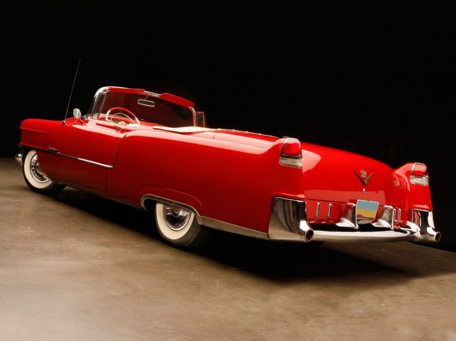 1955 Cadillac Sixty-Two Convertible (6267X) luxury retro wallpaper