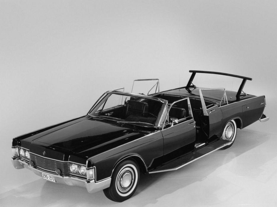 1968 Lincoln Continental Secret Service Convertible Lehmann Peterson armored classic luxury limosuine wallpaper