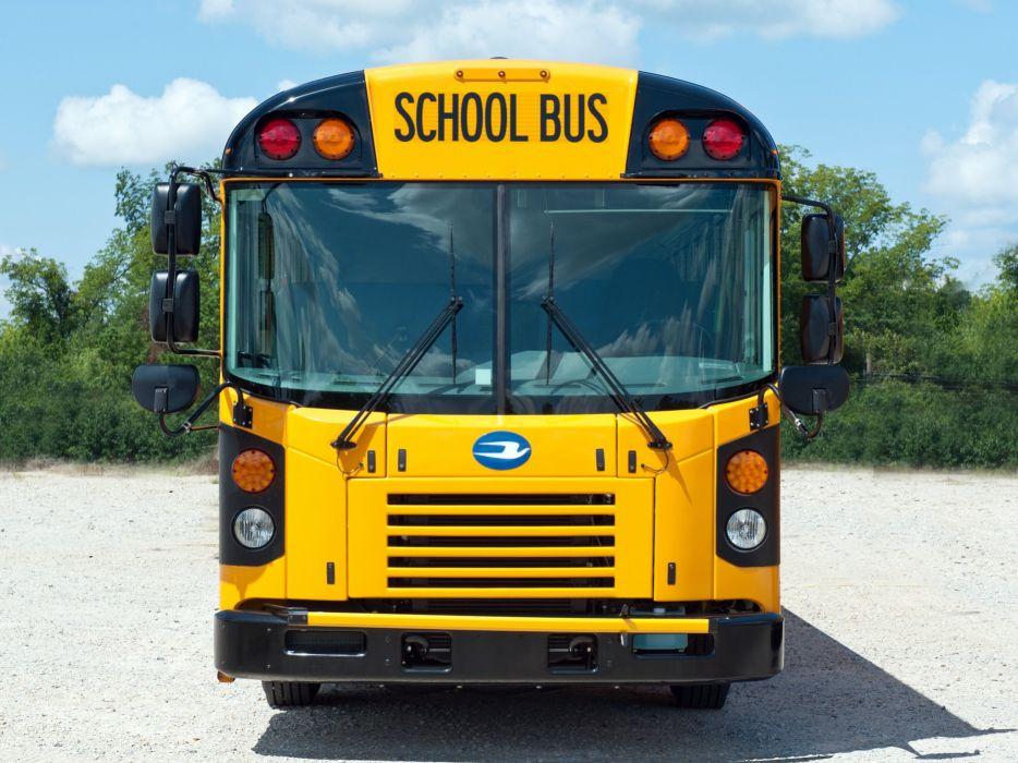 2008 Blue Bird All American F-E School Bus transport semi tractor wallpaper