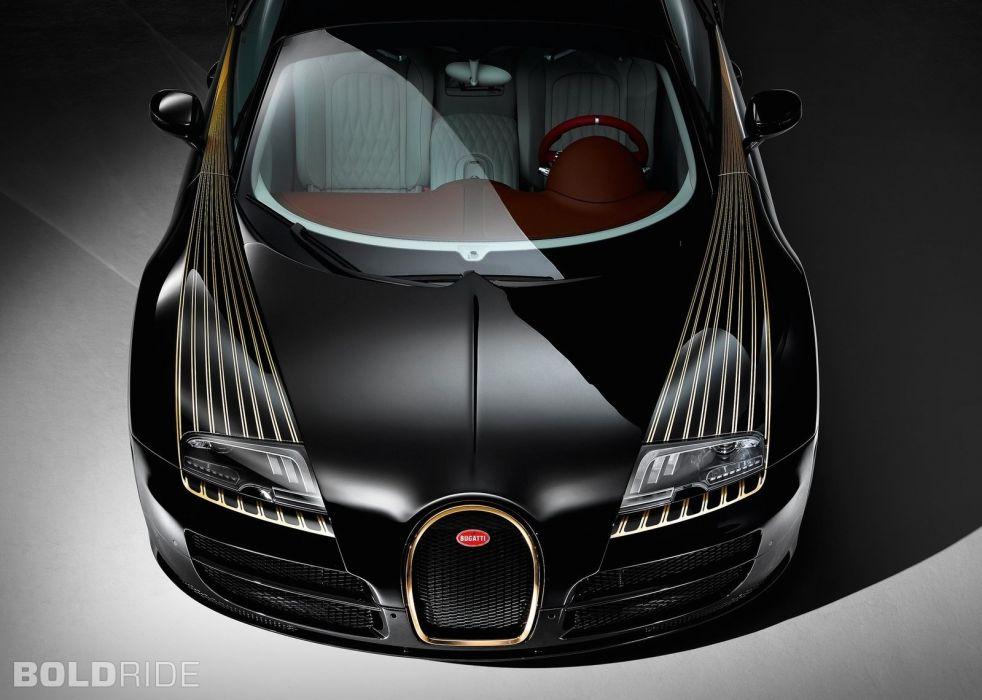 2014 Bugatti Veyron Grand Sport Vitesse Black Bess supercar wallpaper