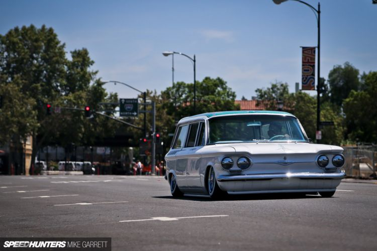 lowrider stationwagon chevrolet corvair wallpaper