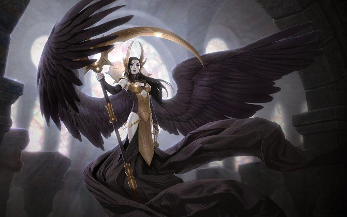 Angel Wings Fantasy Girls wallpaper