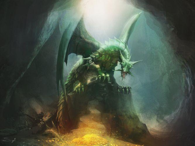 Dragon Wings Fantasy wallpaper