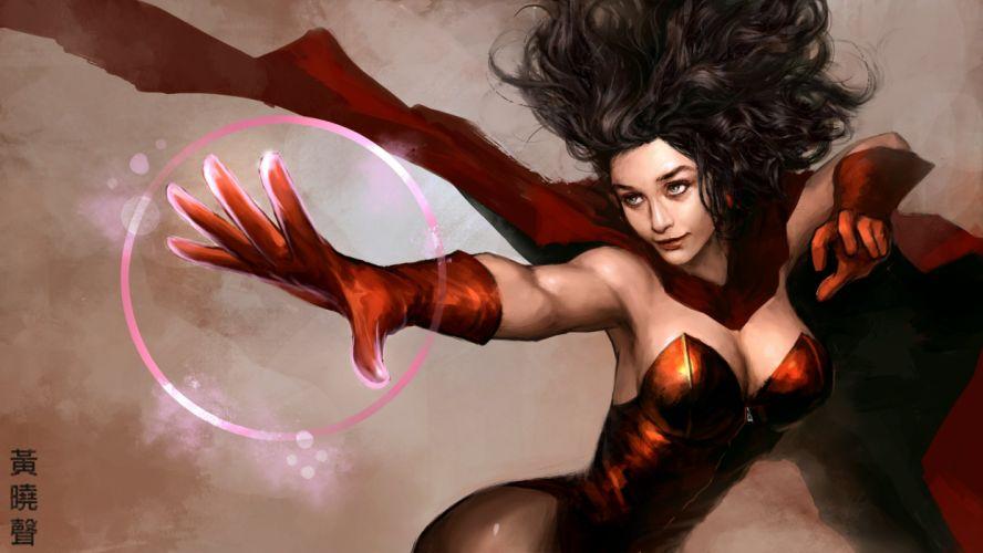 Heroe comics Magic Scarlet Witch Fantasy Girls fantasy wallpaper