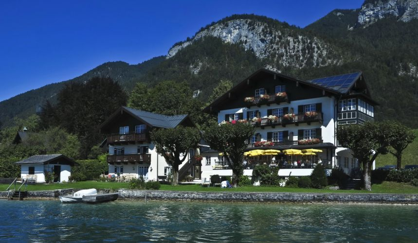 Austria House Lake Mountains St Gilgen wallpaper