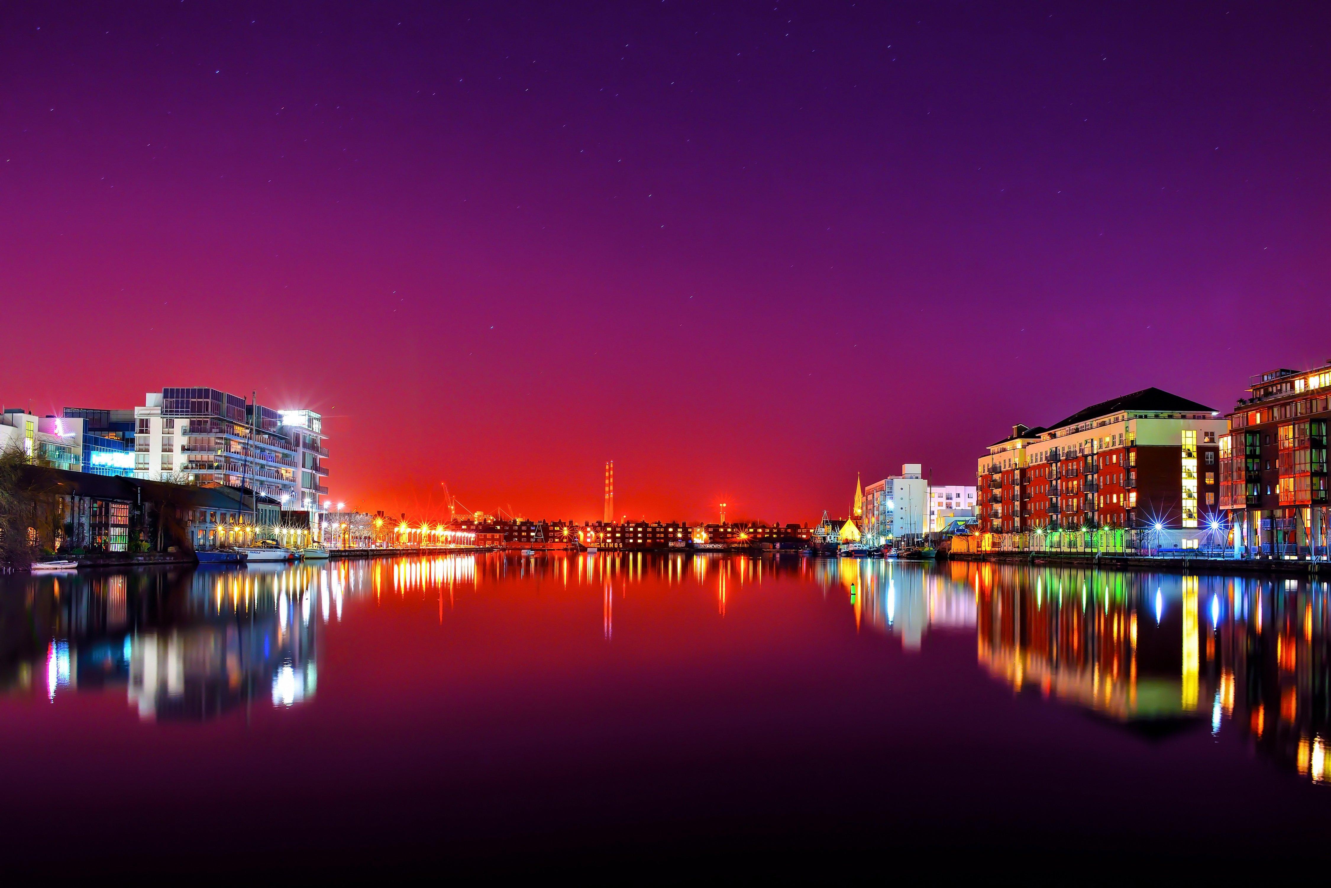 Dublin Ireland at Night Ireland Houses River Dublin